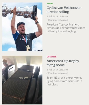 American Cup on Airplane