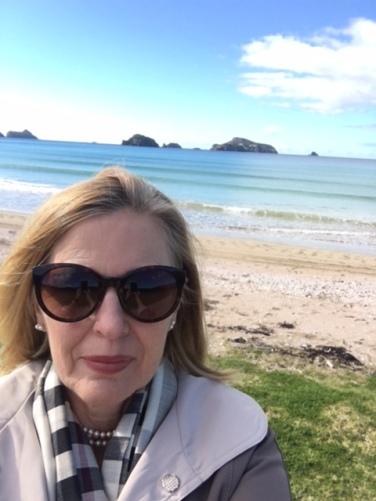 Christi at beach
