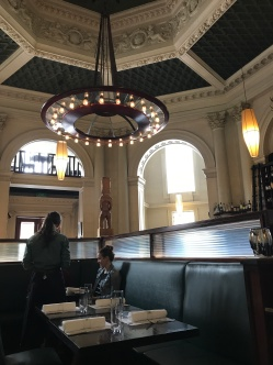 Inside Logan and Brown restaurant