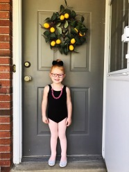 Poppy ready for dance class