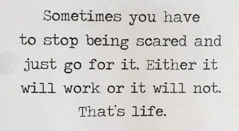 stop being scared