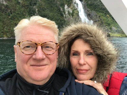 Bob and Christi at Milford Sound