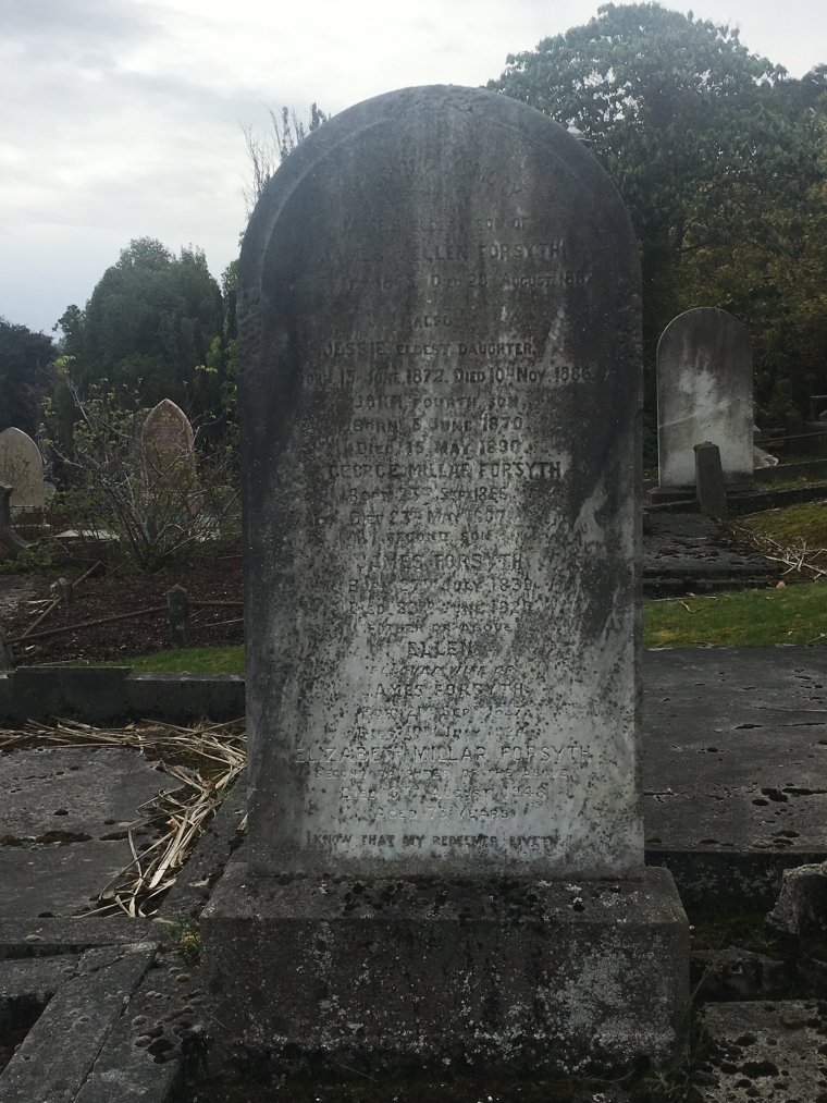 Forsyth Family Burial Plot Dunedin