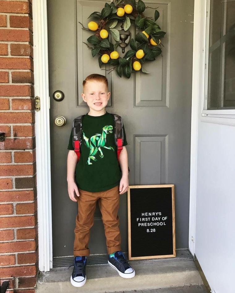 Henrys first day of preschool