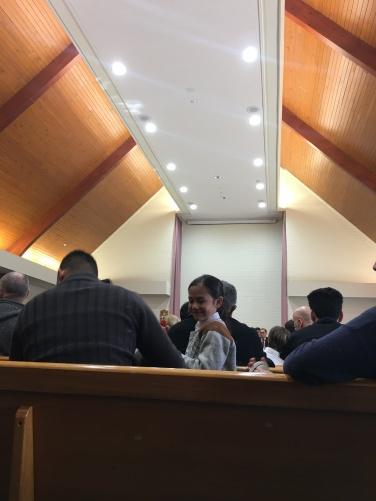 Mauri boy in church in Nelson