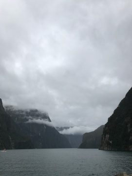 MIlford Sound long view of cloud bridge