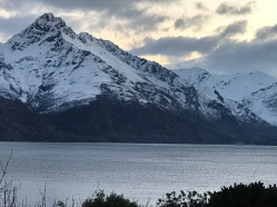 snow capped mountain and lake queenstown