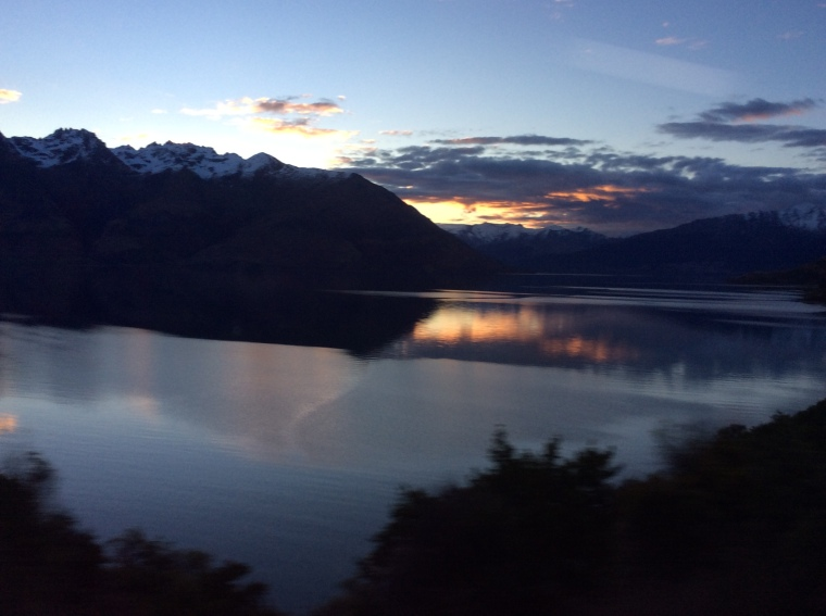 Sunset in Queenstown best pic