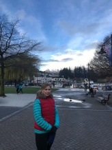 walk to dinner in Queenstown
