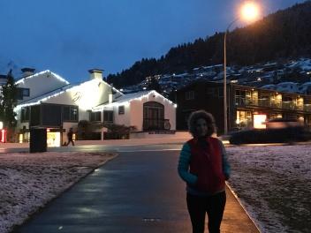 Winter wonderland evening walk