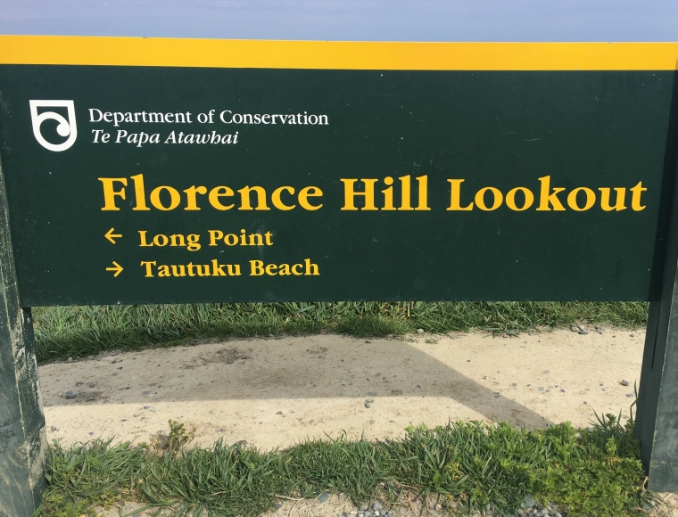 Beach florence Hill Lookout sign