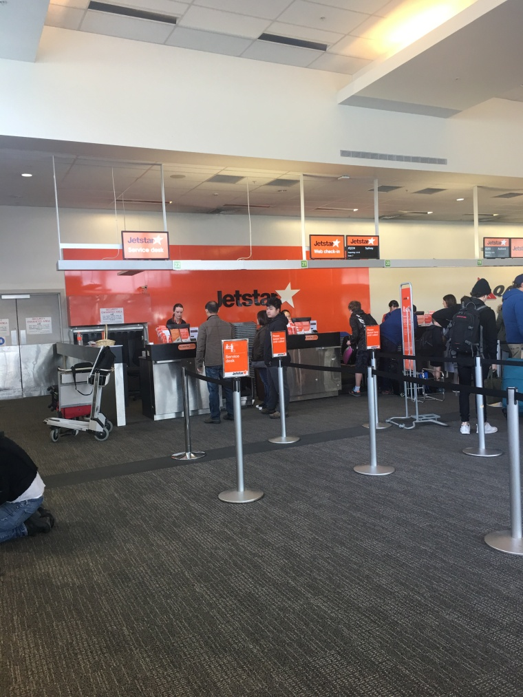 Jetstar ticket counter headed for home