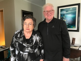 Joan (Nairn) Bielby in Auckland with Bob