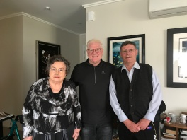 Joan (Nairn, Collins older sister) Bielby and Ross MacFarquhar in Auckland with Bob
