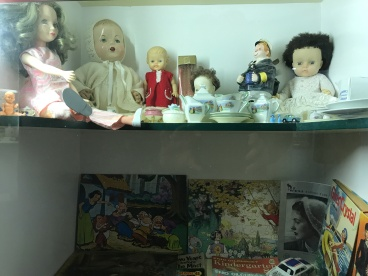 Museum in Owaka - Winnie Forsyth shelf in museum