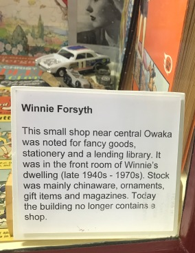 museum Winnie Forsyth sign in window